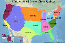 Us Political Map If Every U S State Had The Same Population What Would Map Of