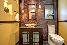 Powder Room Remodel Asian Inspired Powder Room With Tile Accent Wall Jackson Design