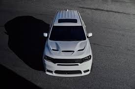 Dodge Durango White - 2018 dodge durango srt white exterior front quarter overhead