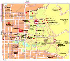 Map Japan Nara Map Tourist Attractions Printed Japan Travel Tips