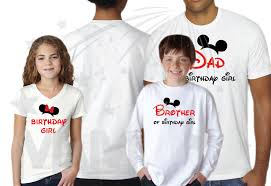 matching family shirts for birthday with mickey minnie mouse