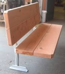 six foot 3 u201d redwood bench with back ada