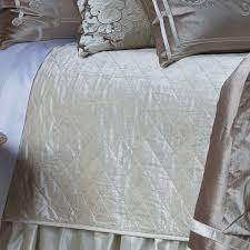 lili alessandra angie champagne velvet with ivory applique bedding