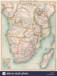 Southern Africa Map Southern Africa Congo British Portuguese German East Africa Stock