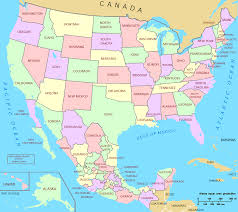 usa map map mexico and usa major tourist attractions maps for