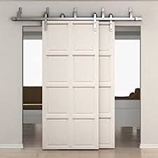 Barn Door Hangers Amazon Com Diyhd 8ft Bypass Sliding Barn Door Hardware Double