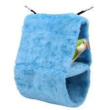 heat l for bird aviary dual layer bird cage hammock bird house warm plush winter large bird