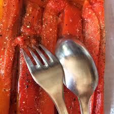 comment cuisiner les poivrons rouges recette de poivrons au micro onde astuces d une paresseuse