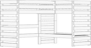 Triple Lindy Bunk Bed Configurations The Bunk  Loft Factory - Triple lindy bunk beds