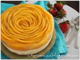 Kek Mango recipes today chilled mango cheese cake kek keju mangga dingin