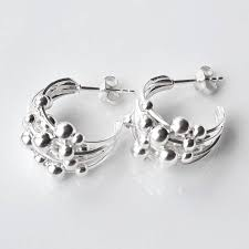 silver studs silver hoop studs by martha jackson sterling silver