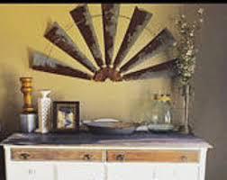 Metal Home Decorating Accents Metal Windmill Half 30 Inch Farmhouse Decor Rustic