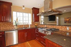 Wood Stained Cabinets Kitchen Excellent Modern Cherry Kitchen Cabinets With Stained