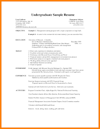 Working Student Resume Sample Philippines by Sample Resume Format For Undergraduate Students Free Resume