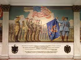 Flag Of Massachusetts State Library Of Massachusetts The Courageous Men Of The 104th