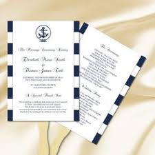 printable wedding program paddle fan nautical by hesawsparks