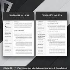 Resume Templates And Cover Letters Professional Modern Resume Template Cv Template Cover Letter