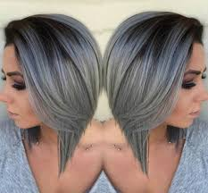 ambre hair styles gray ombre bob beautiful silver ombre hairstyles for short hair