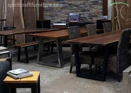 Solid Walnut Dining Table And Chairs Live Edge Table And Furniture Showroom In The Chicago Area