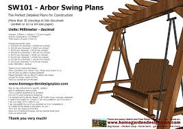arbor swing plans free home garden plans sw101 arbor swing plans construction graden