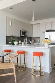 Bar Stool For Kitchen Best 25 Orange Bar Stools Ideas On Pinterest Red And White
