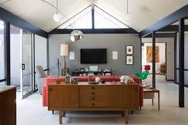 historic eichler home refit for the future nonagon style historic living room design nonagon style