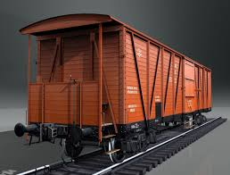 3d model boxcar canadian type equipped with a hand brake vr ar