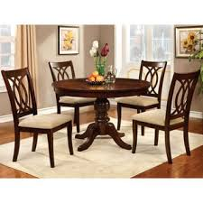round table dining room sets furniture of america cerille 5 piece