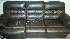 Leather Reclining Sofa And Loveseat Ashley Furniture Durablend Bonded Leather Reclining Sofa