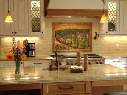 fused glass kitchen backsplash in tuscany theme designer glass