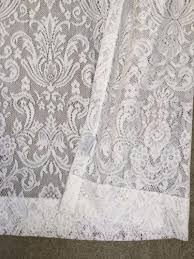 lace curtain panels cheap tailored panel with attached valance 63