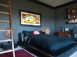 black leather padded headboard bed small basement bedroom ideas