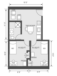 Floor Plans With Measurements University Housing Virtual Tour Rutledge