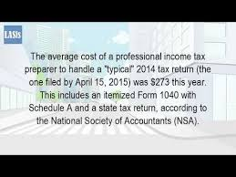 what is the average price for a one bedroom apartment what is the average cost to prepare a tax return youtube