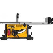 dewalt jobsite table saw accessories dewalt dcs7485t1 flexvolt 60v max 8 1 4 table saw kit the tool nut