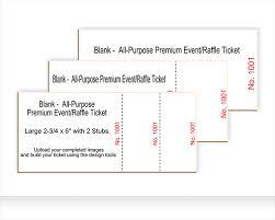 blank ticket templates best ticket printing
