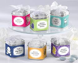 personalized baby shower favors square favor tin for candy personalized baby shower favors by