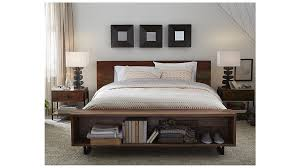 Over The Bed Bookshelf Atwood Queen Bed With Bookcase Crate And Barrel