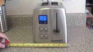Stainless Toaster 2 Slice Cuisinart Countdown Classic 2 Slice Toaster Review Youtube