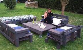 Backyard Creations Furniture - backyard creations patio furniture from unused wooden pallet