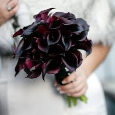purple calla lilies purple calla wedding bouquet