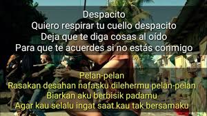despacito asli jangan cuma nyanyi ternyata ini lirik dan arti reff lagu despacito