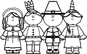 pilgrim native american coloring page wecoloringpage