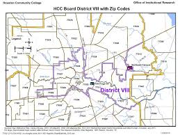 houston map with zip codes district viii zip codes map houston community college hcc