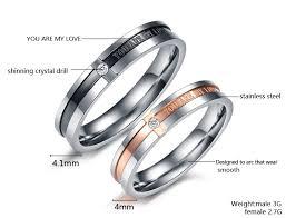 matching wedding rings matching titanium steel engagement promise ring wedding