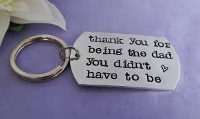 step fathers day gifts step keyring gift for step personalised keyring