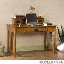 Oak Desk With Hutch 45 Modern Oak Desk With Mini Hutch And Keyboard Drawer