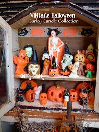 chippy shabby vintage halloween vignette fab gurley brand