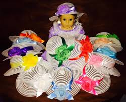 tea party hats doll size dress up tea party hat fits 18 inch american girl doll