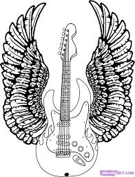 guitar with wings tattoos guitars and